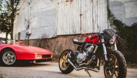 Độ xe Honda CB600F phối với Ferrari cực đẹp