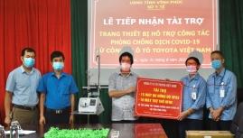 Toyota Việt Nam hỗ trợ hơn 1 tỷ đồng thiết bị y tế cho tỉnh Vĩnh Phúc chống dịch