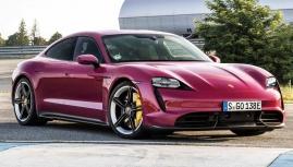 Porsche Taycan 2022 phiên bản Tím hồng cho khách hàng nữ